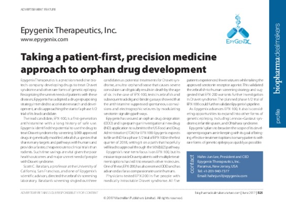 Taking a patient-first, precision medicine approach to orphan drug development